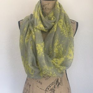Skull Yellow and Grey Infinity Scarf